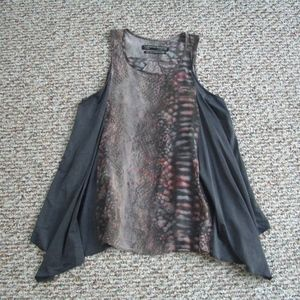 Allsaints silk Python Ottavia vest tank top 4
